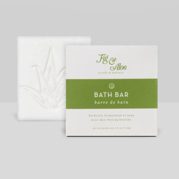 Bar Soap, Hotel Size Bath Amenities, Fig & Aloe 42 gram square, boxed