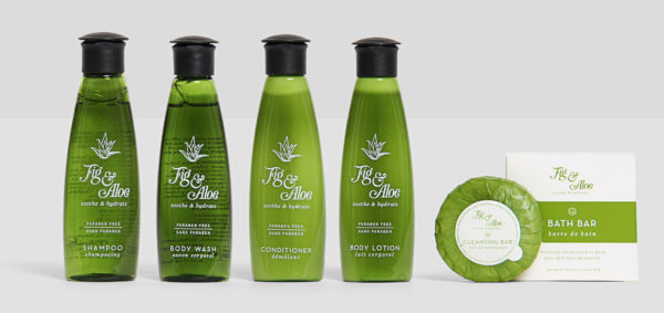 Fig and Aloe Luxury Hotel Bath Amenities Collection from Hotel Emporium, Distributed by Lodging Kit Company
