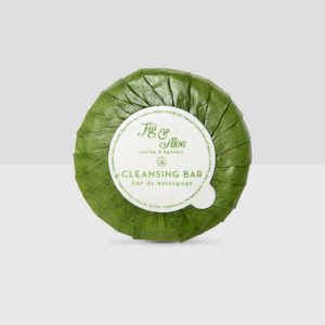 Bar Soap - Fig & Aloe Luxury Hotel Bath Amenities Collection -Round Soap Bar inPleat-Wrapped Paper