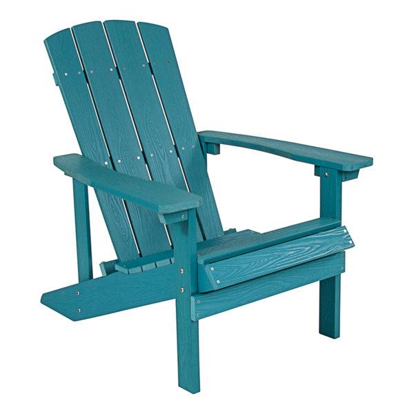 Adirondack Camp Chair, Plywood, Teal