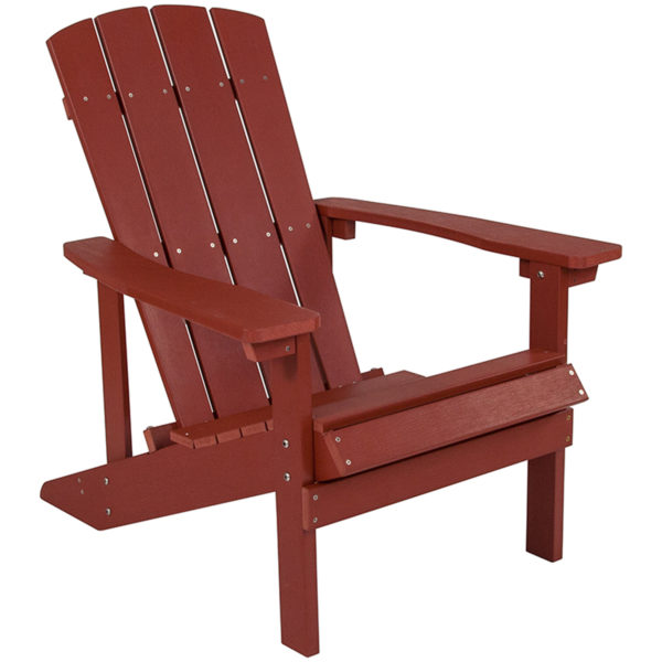 Red Adirondack Chair, Faux Wood