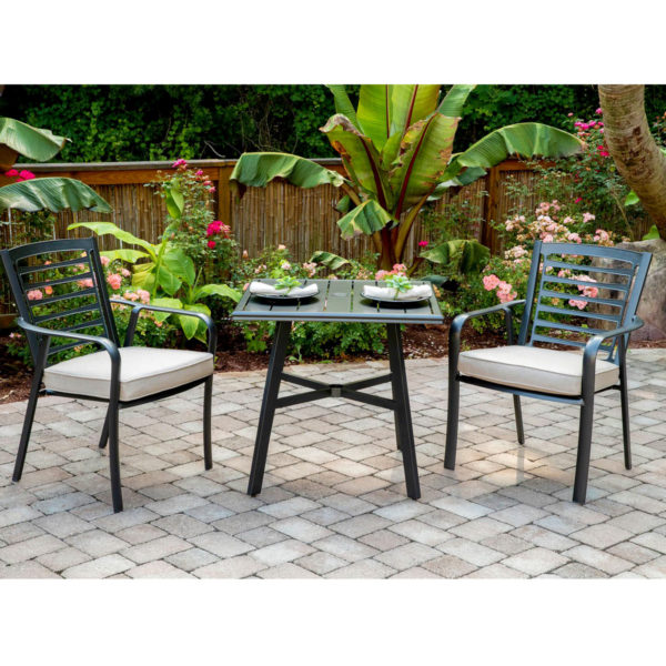 Outdoor hotel pool chairs, cushion, aluminum frame