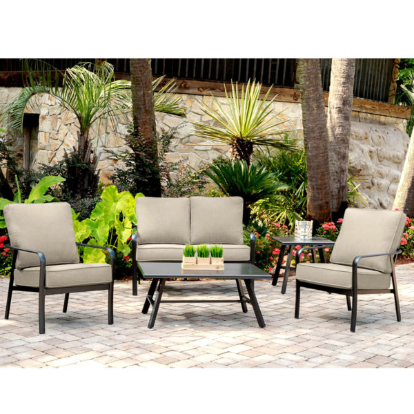 Commercial Hotel Outdoor Love Seat w Sunbrella Cushions, Luxury Patio Furniture