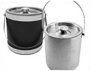 Stainless & Metallic Ice Buckets