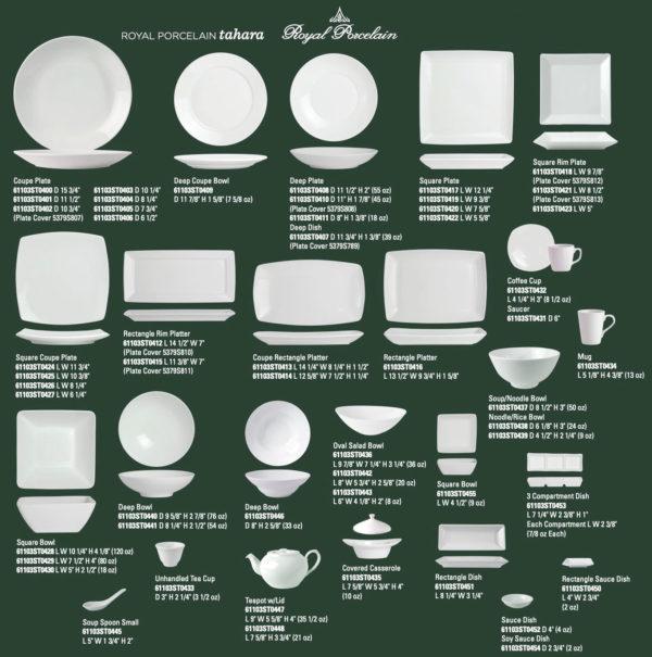 Tahara Porcelain Banquet Dinnerware - Steelite