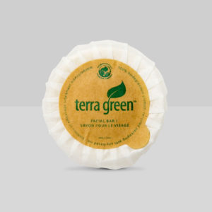 Pleat wrapped bar soap, Terra Green collection