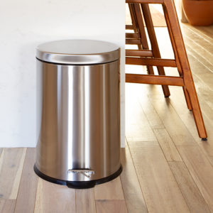 Stainless Steel Trash Can - Fingerprint Resistant, Soft Close, Step Lid - 5.3 Gallon