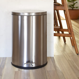 Stainless Steel Trash Can - Fingerprint Resistant, Soft Close, Step Lid - 10.6 Gallon
