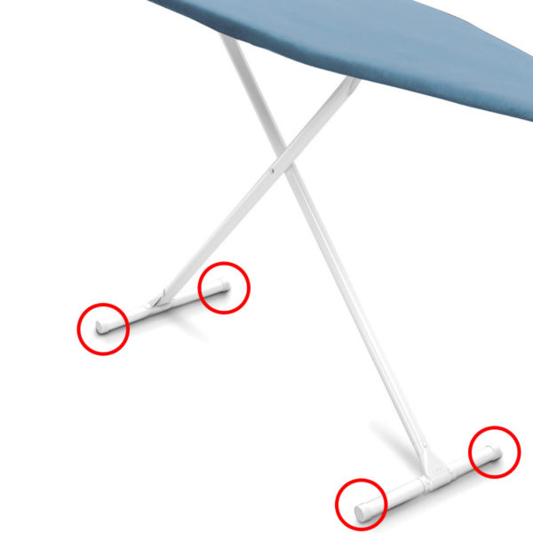 End Caps for Ironing Board Legs, Replacement Pieces for Hotel Ironing Boards