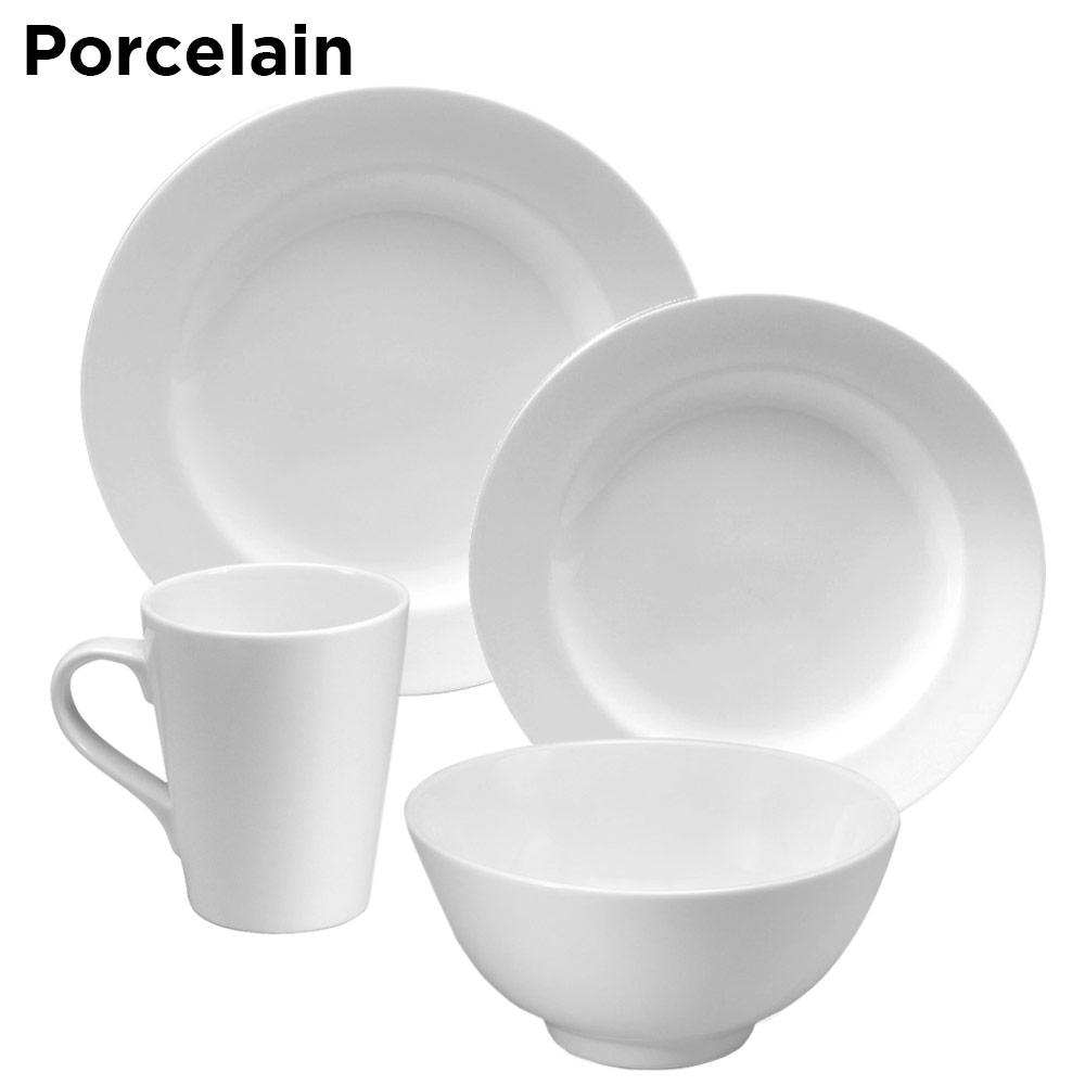 Example of porcelain dinnerware