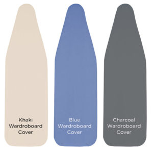 """WardroBoard Cover & Pad, 1 Piece, 6mm fiber, Fits 48"""" x 14"""" - Khaki, Blue or Charcoal Ironing Board Replacement Covers"""