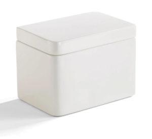 Lacca Cotton Jar White
