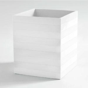 Cabana Wastebasket White