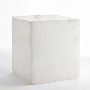 Alabaster Wastebasket