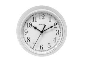 "9"" Wall Clock White"